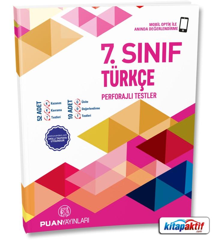 7. Sınıf Türkçe Perforajlı Testler Puan Yayınları