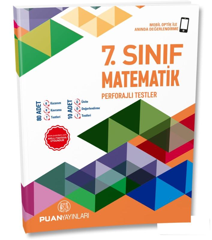 7. Sınıf Matematik Perforajlı Testler Puan Yayınları