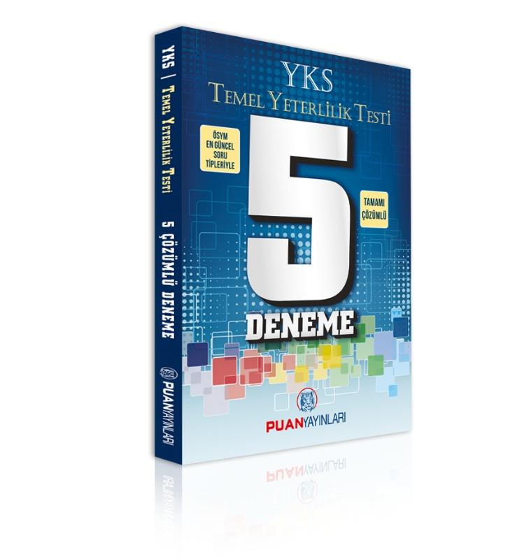 YKS TYT 5 Çözümlü Deneme Puan Yayınları