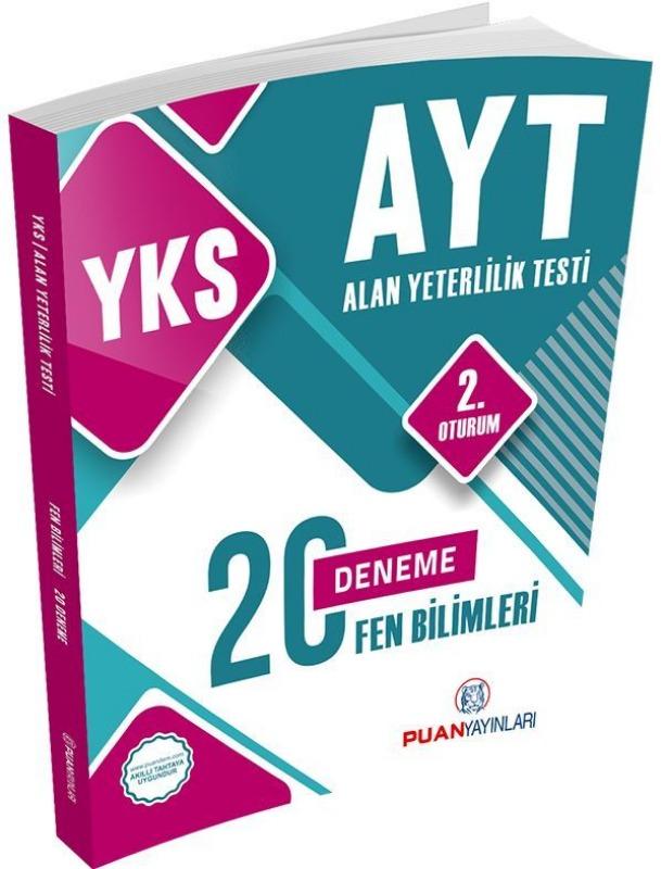YKS AYT Fen Bilimleri 20 Deneme Puan Yayınları