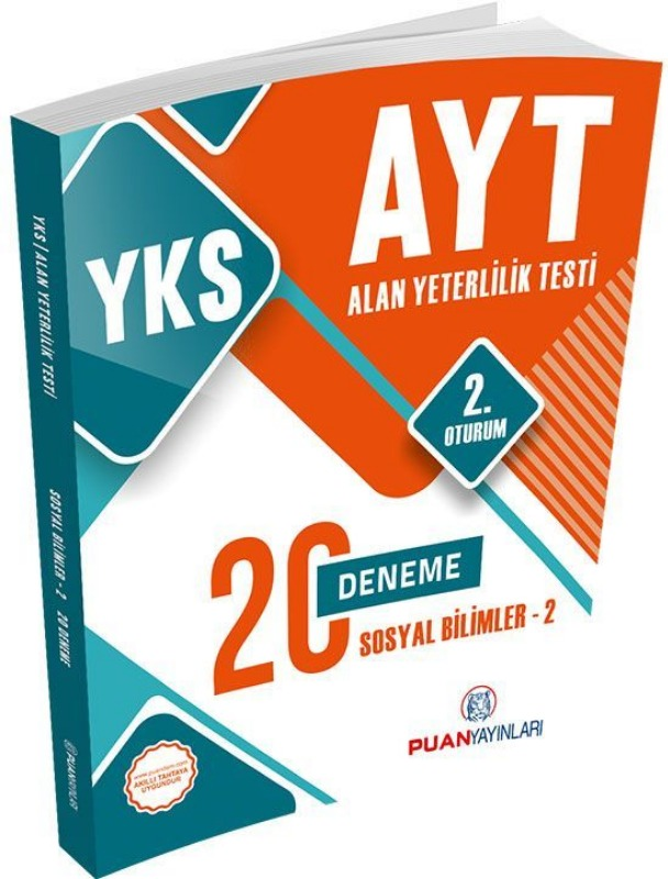 YKS AYT Sosyal Bilimler 2 20 Deneme Puan Yayınları