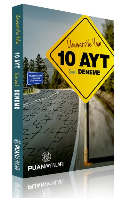 AYT Üniversite Yolu Sözel 10 Deneme Puan Yayınları