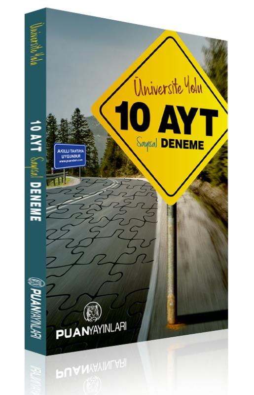 AYT Üniversite Yolu Sayısal 10 Deneme Puan Yayınları