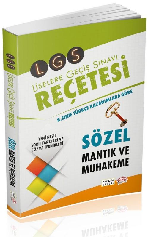 LGS Reçetesi Sözel ve Mantık Muhakeme Editör Yayınları