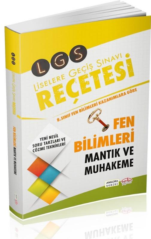 LGS Reçetesi Fen Bilimleri Mantık Muhakeme Editör Yayınları
