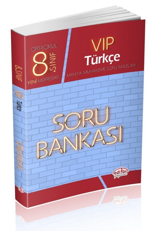 8. Sınıf Vip Türkçe Soru Bankası Editör Yayınları