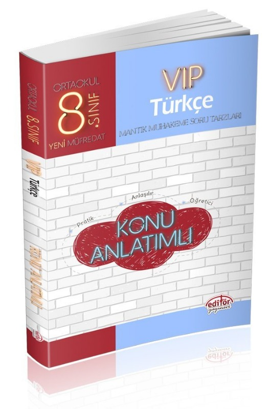 8. Sınıf Vip Türkçe Konu Anlatımı Editör Yayınları