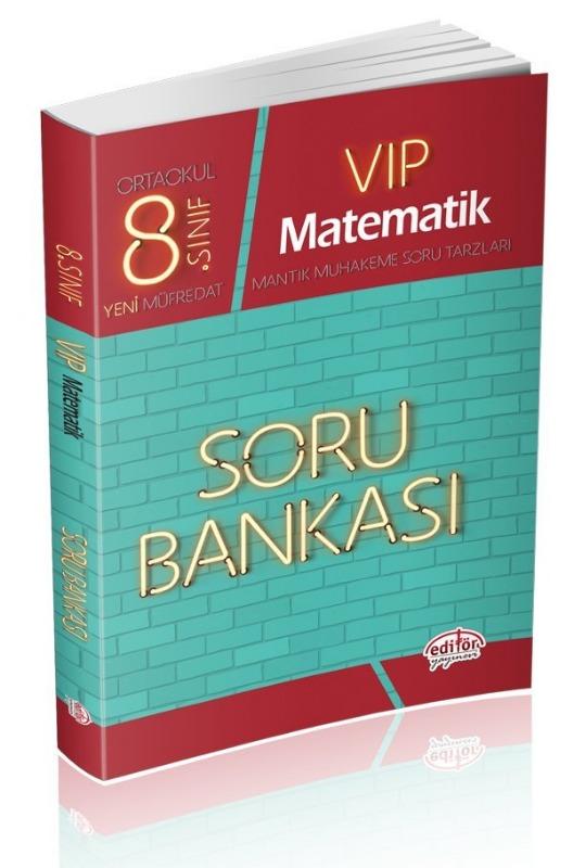 8. Sınıf Vip Matematik Soru Bankası Editör Yayınları