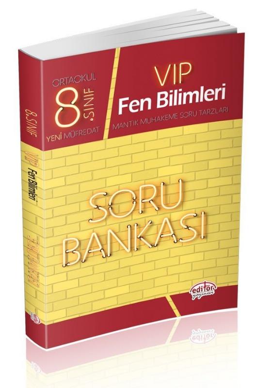 8. Sınıf Vip Fen Bilimleri Soru Bankası Editör Yayınları