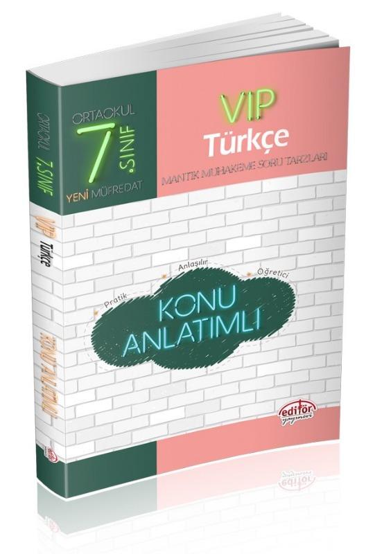 7. Sınıf VIP Türkçe Konu Anlatımlı  Editör Yayınları