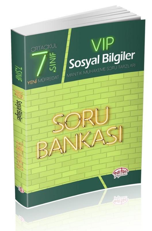 7. Sınıf VIP Sosyal Bilgiler Soru Bankası Editör Yayınları