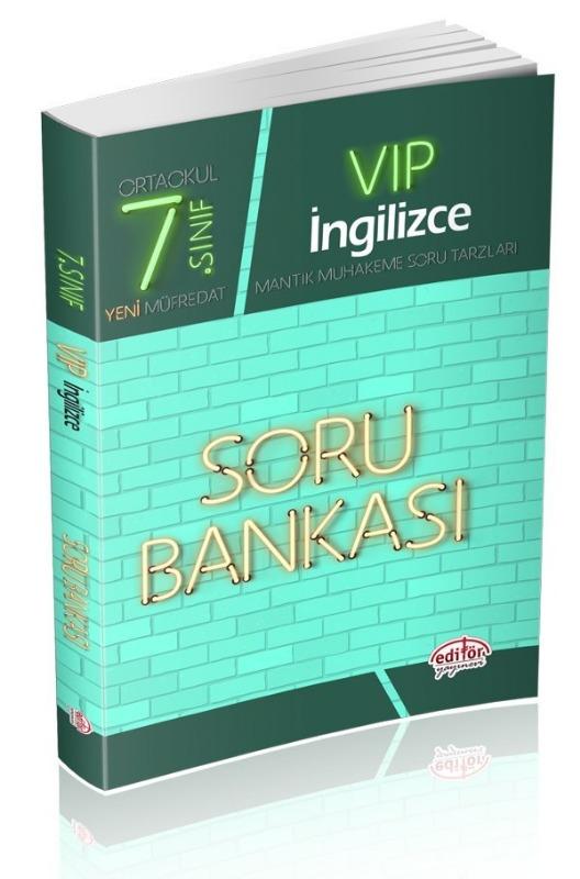 7. Sınıf VIP İngilizce Soru Bankası Editör Yayınları