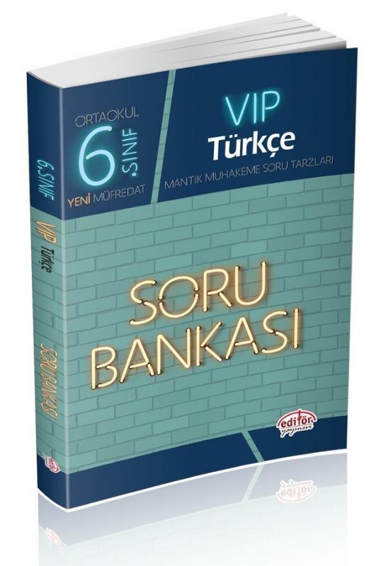 6. Sınıf VIP Türkçe Soru Bankası Editör Yayınları
