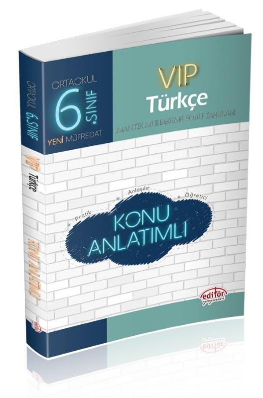 6. Sınıf VIP Türkçe Konu Anlatımlı Editör Yayınları