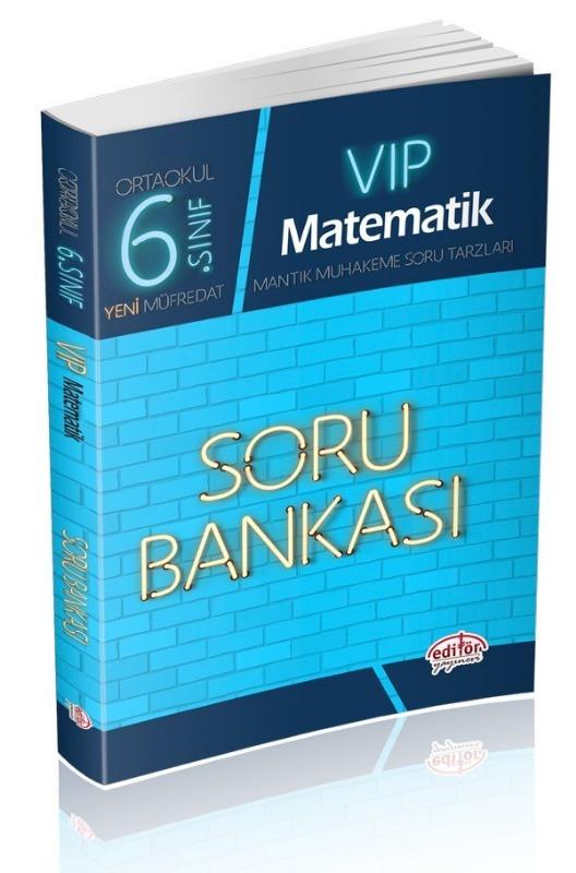 6. Sınıf VIP Matematik Soru Bankası Editör Yayınları
