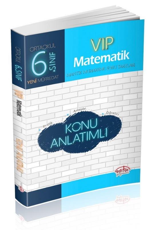 6. Sınıf VIP Matematik Konu Anlatımlı Editör Yayınları