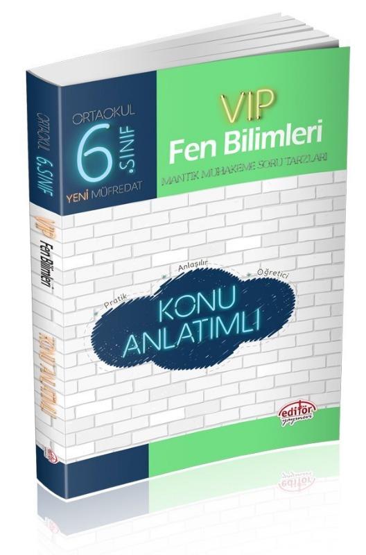 6. Sınıf VIP Fen Bilimleri Soru Bankası Editör Yayınları