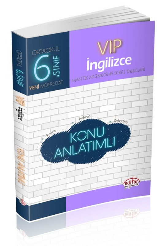 6. Sınıf VIP İngilizce Konu Anlatımlı Editör Yayınları