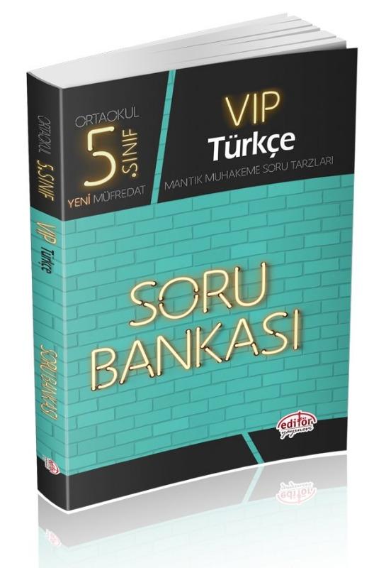 5. Sınıf VIP Türkçe Soru Bankası Editör Yayınları