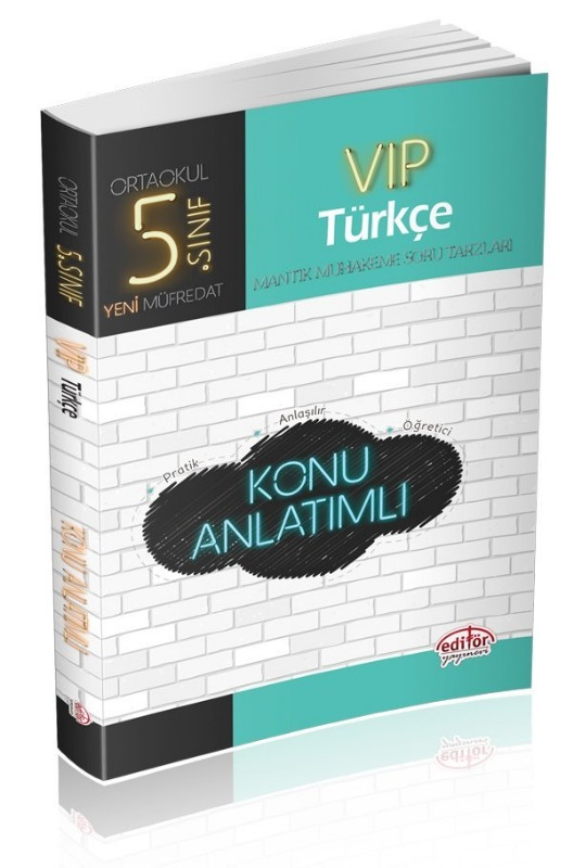 5. Sınıf VIP Türkçe Konu Anlatımlı Editör Yayınları