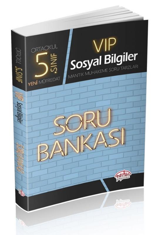 5. Sınıf VIP Sosyal Bilgiler Soru Bankası Editör Yayınları