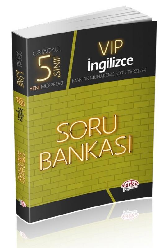5. Sınıf VIP İngilizce Soru Bankası Editör Yayınları
