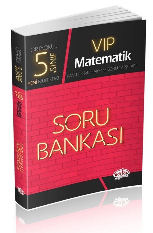 5. Sınıf VIP Matematik Soru Bankası Editör Yayınları