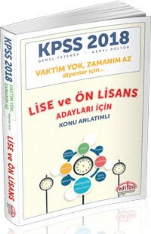 KPSS Vaktim Yok Zamanım Az Diyenler için Lise ve Ön Lisans Editör Yayınları