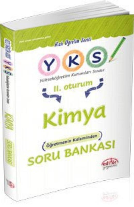 YKS Kimya Soru Bankası Editör Yayınları