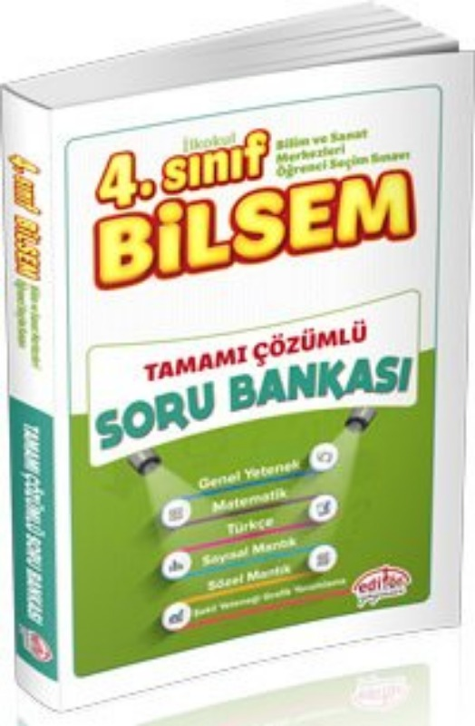 4. Sınıf Bilsem Çözümlü Soru Bankası Editör Yayınları