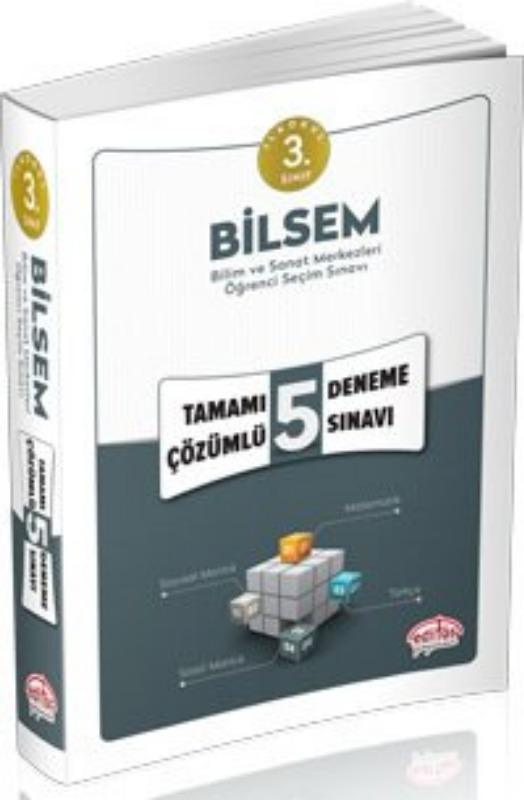 3. Sınıf Bilsem Çözümlü 5 Deneme Sınavı Editör Yayınları