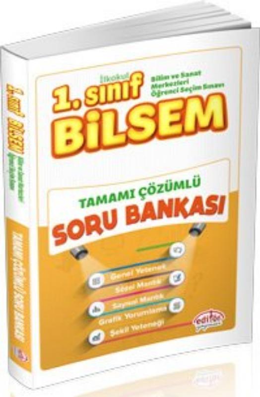1. Sınıf Bilsem Tamamı Çözümlü Soru Bankası Editör Yayınları