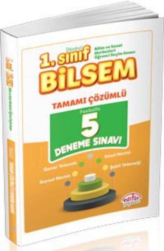 1. Sınıf Bilsem Tamamı Çözümlü 5 Deneme Sınavı Editör Yayınları