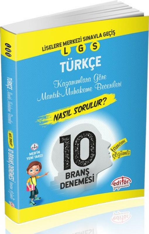 LGS Mantık ve Muhakeme Soruları Nasıl Sorulur Çözümlü Türkçe 10 Denemesi Editör Yayınları