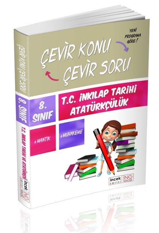 8. Sınıf T.C. İnkılap Tarihi ve Atatürkçülük Çevir Konu Çevir Soru İnovasyon Yayınları