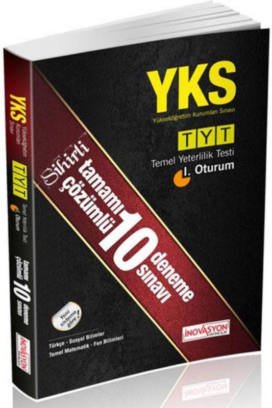 TYT Çözümlü 10 Deneme Sınavı İnovasyon Yayınları