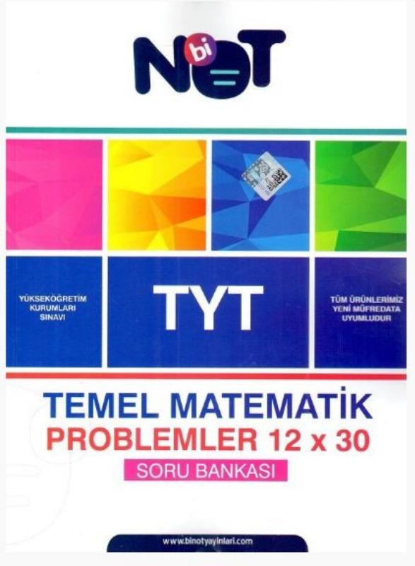 BiNot Yayınları TYT Temel Matematik Problemler 12x30 Soru Bankası