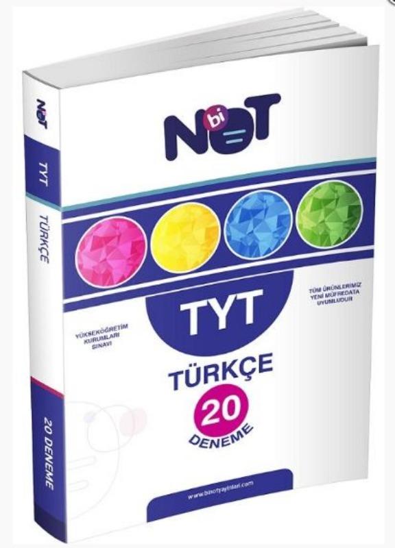 BiNot Yayınları TYT Türkçe 20 Deneme