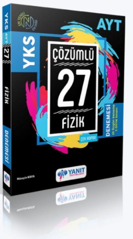 AYT 27 Çözümlü Fizik Denemesi Yanıt Yayınları