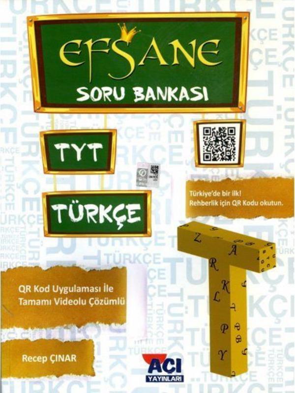 TYT Türkçe Efsane Soru Bankası Açı Yayınları