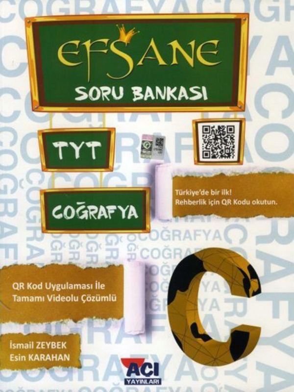 TYT Coğrafya Efsane Soru Bankası Açı Yayınları