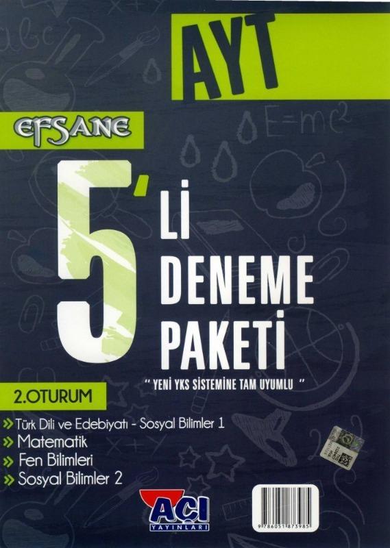 AYT EFSANE 5 li Deneme Seti Açı Yayınları