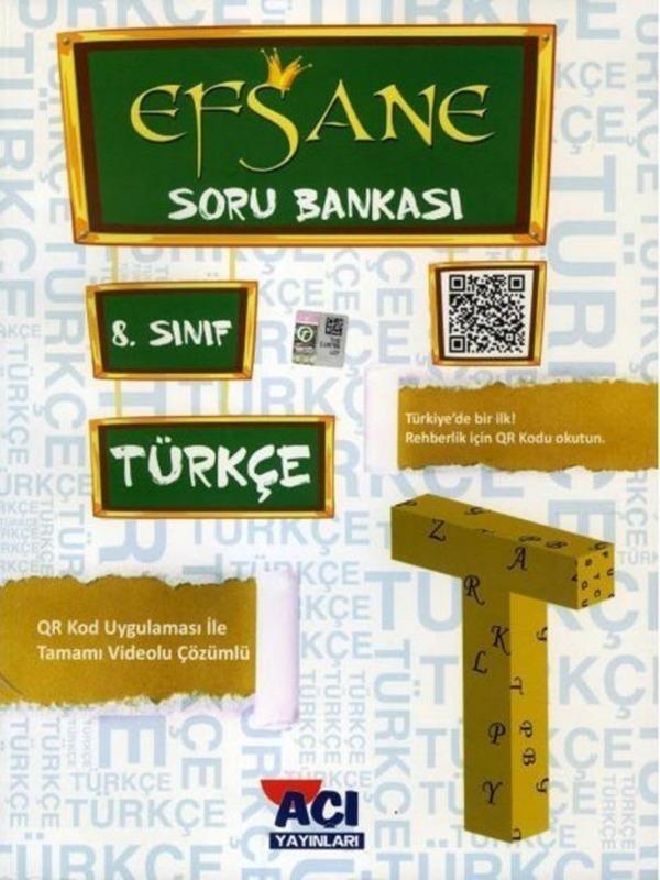 8.Sınıf LGS Türkçe EFSANE Soru Bankası Açı Yayınları