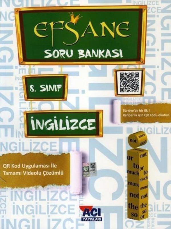 8.Sınıf LGS İngilizce EFSANE Soru Bankası Açı Yayınları