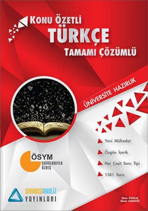 Sıradışıanaliz Yayınları TYT Türkçe Konu Özetli Tamamı Çözümlü