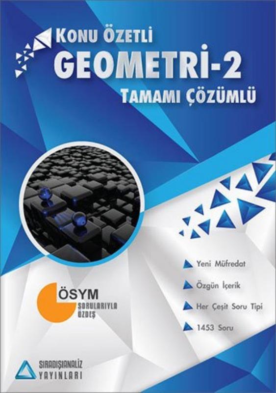 Sıradışıanaliz Yayınları AYT Geometri 2 Konu Özetli Tamamı Çözümlü