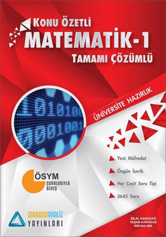 Sıradışıanaliz Yayınları TYT Matematik 1 Konu Özetli Tamamı Çözümlü