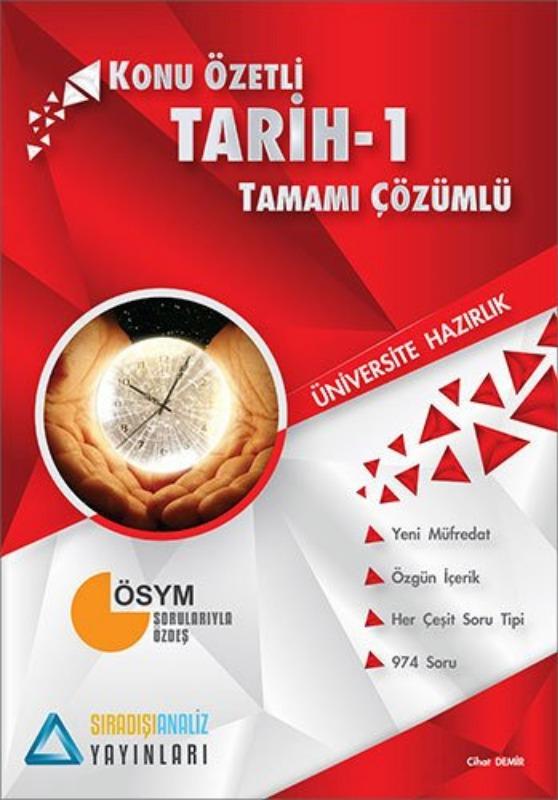 Sıradışıanaliz Yayınları TYT Tarih 1 Konu Özetli Tamamı Çözümlü
