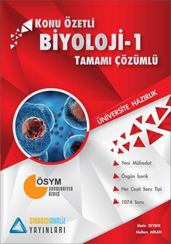Sıradışıanaliz Yayınları TYT Biyoloji 1 Konu Özetli Tamamı Çözümlü