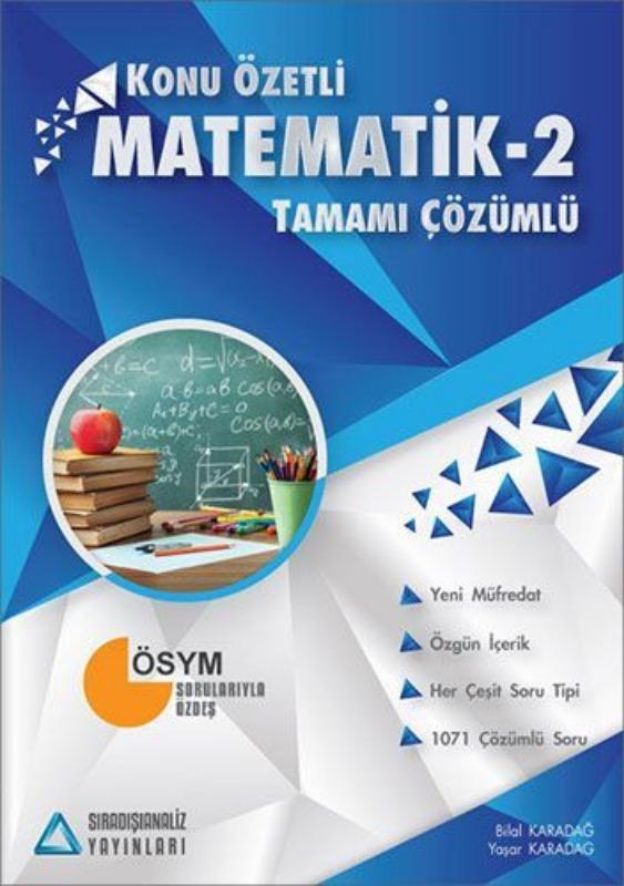 Sıradışıanaliz Matematik 2 Konu Özetli Tamamı Çözümlü Soru Bankası